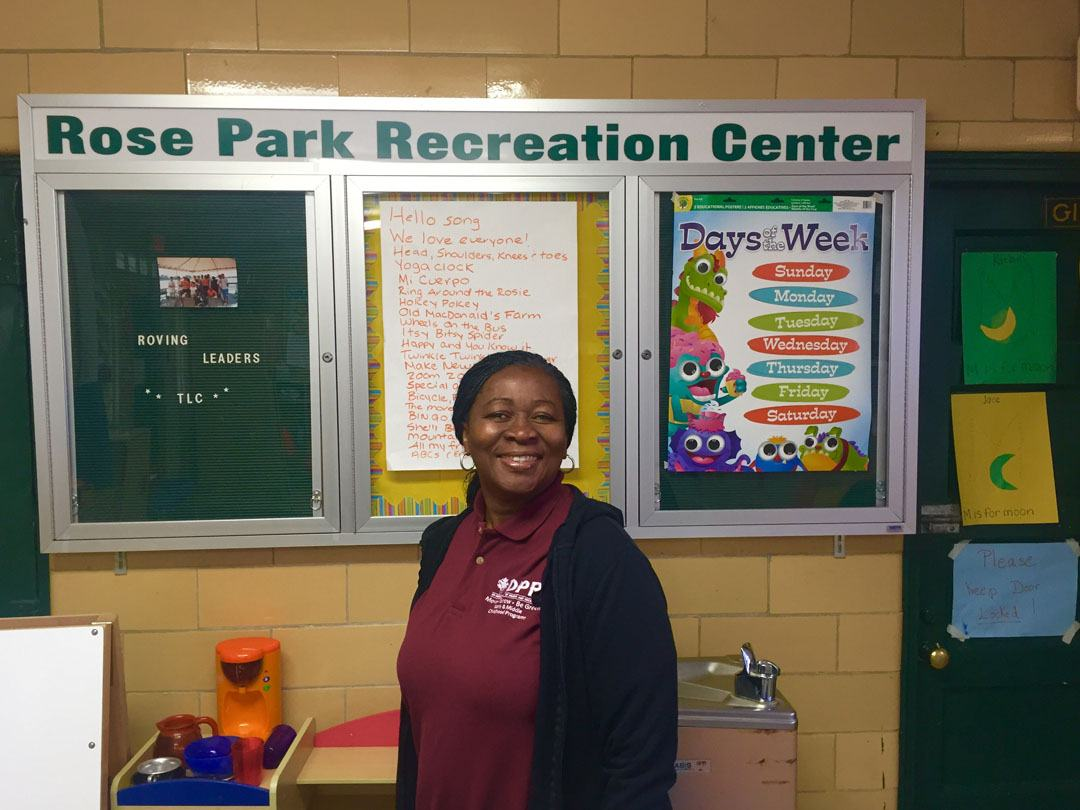 Rose Park Recreation Center Supervisor, Ms. Patterson